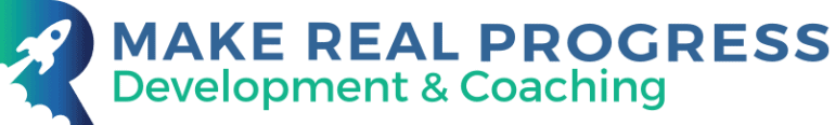 make real progress development and coaching logo x2